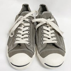 CONVERSE JACK PURCELL Taupe Canvas Lace Up Sneaker
